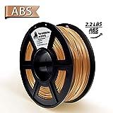 3D Filament, ABS 3D Printer Filament 1.75mm, 1KG Spool(2.2lbs),3D Printing Filament Dimensional Accuracy +/- 0.02mm- NO Clogging(Grey)