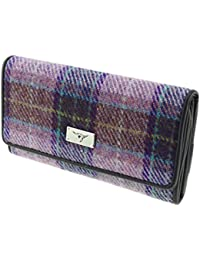 White Wallet With Coin Purse Aktiv New Fashion Authentic Scottish Harris Tweed