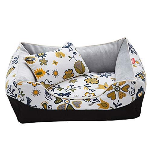 Kurzes Haustier-Matratzenset Aus Plüsch Super Weiches Warmes Katzen- Und Hundeschlafsofa Multifunktionales Haustier-Sofa (Color : Yellow, Size : (45 × 35 × 18cm))