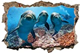 Delfine Meer Delfin Wandtattoo Wandsticker Wandaufkleber D0683 Größe 70 cm x 110 cm