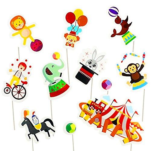 musykrafties Carnaval Circus 11Kuchen Cupcake Topper