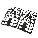 Emblem Ecken Aufkleber Glanz von Finest-Folia (Weiß Weiß)