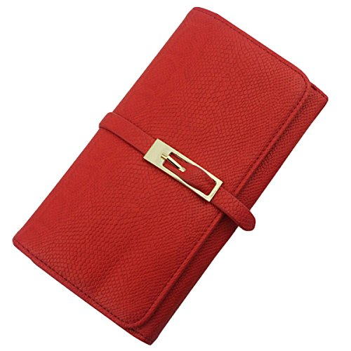 Collezione Di Moda Per Il Tempo Libero Del Portafoglio Del Portafoglio Del Portafoglio Delle Signore Del Raccoglitore Red