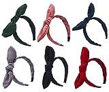 sthuahe Damen-Haarband, süß, mit Wildleder-Schleifen, für earshairband Kopfband Haar-Accessoires,