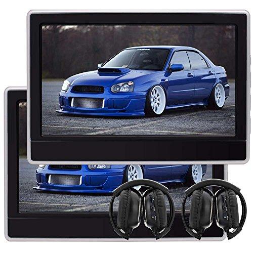 EinCar 11,6 '' LCD Wide Screen Auto-Kopfstütze DVD-Player x 2 tragbaren Gaming-Monitor mit HDMI-Anschluss Tablet-Style Rücksitzkopfstütze Unterstützung 32 Bit Spiele mit Fernbedienung Game Disc  - Zoll Tv-dvd-player Tragbare 9