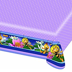 Amscan - 552354 - Nappe Plastifiée Maya l'Abeille - 120 x 180 cm