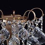 Kleine schicke Wandleuchte 1-flammig barock modern bronzefarbiges Metall Kristallkugeln klar indirektes sanftes Licht für Wohnzimmer Schlafzimmer Diele Flur Halle Restaurant exkl.1*60W E14 - 9