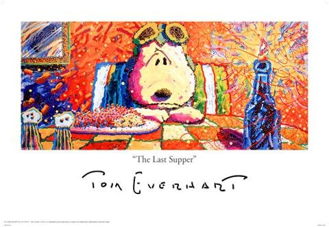 Click for larger image of 1art1® Poster Peanuts The Last Supper by Tom Everhart 91 x 61 cm other