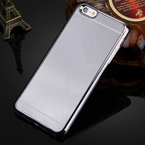 Wkae Case & Cover Pour iPhone 6 Plus &6s plus Case Cover Electroplating Mirror TPU protection ( Color : Silver ) Grey