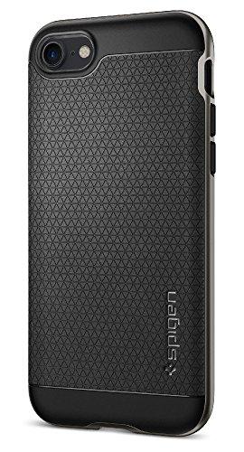 spigen Funda iPhone 7, [Neo Hybrid] Protección Interna Flexible y Marco de Parachoques Duro Reforzado para iPhone 7 2016 - Gunmetal