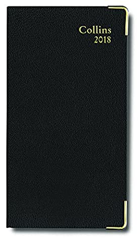Collins Business Pocket Slim Chart 2018 Diary with Appointments - Week to View - Black - CAPB