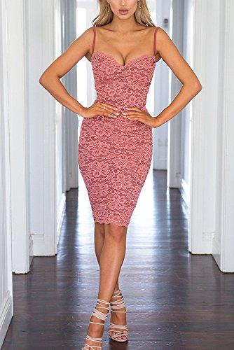 Miss Floral -  Vestito  - Senza maniche  - Donna Pink