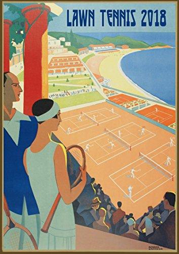 Kalender 2018 [12 seiten 20x30cm] Tennis Players Vintage Sport Werbung Plakat Advert [Calendar]