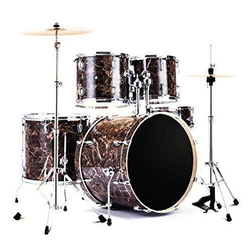 Basstrommeln Percussion Drums Adult Children Es Drums Drum Set Professional Test Drums Electroplating Hardware Mixed Wood Cavity (Color : Brass, Size : 100 * 120cm)