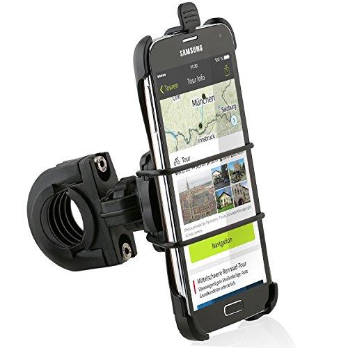 Preisvergleich Produktbild Wicked Chili Fahrrad/Roller/Lenker-Halterung mit Sicherungsband für Samsung Galaxy S5/S5 Neo (passgenau, QuickFix) schwarz
