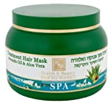 Beauty Health Best Deals - Mer Morte cosmétique - Health and Beauty Dead Sea Minerals - Masque pour cheveux à lhuile d'avocat + aloe vera - 250 ml