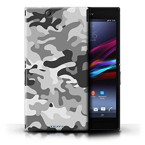 Kobalt® Imprimé Etui / Coque pour Sony Xperia Z Ultra / Rose 4 conception / Série Armée/Camouflage Blanc 1