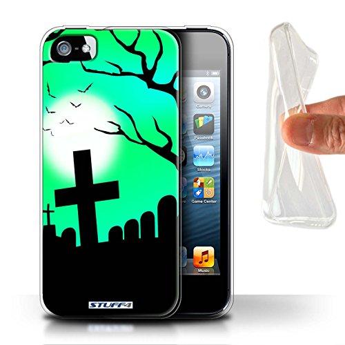 Stuff4 Gel TPU Hülle / Case für Apple iPhone X/10 / Unheimlich Friedhof Muster / Halloween Szene Kollektion Unheimlich Friedhof