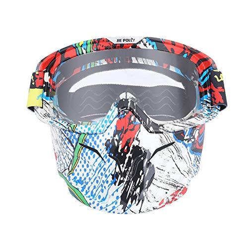 Sportbrille Herren Motocross Spiegel Spiegel Retro Schutzbrillen Maskenbrillen Helm Winddichte Brillen Transparent A03 Damen Herren