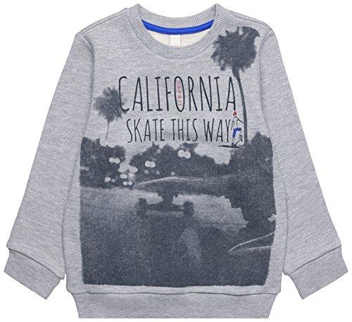 ESPRIT Kids Jungen Sweatshirt RL1503401, Grau (Mid Heather Grey 260), 128 (Herstellergröße: 128/134)