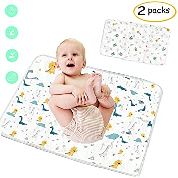 Type 3 S/&G Top 2 X Deluxe Unisex Baby Waterproof Changing Mat Waterproof Pad Baby Soft Urine Pads Absorbent Blanket Sheet Bed Pads Printed Changing Baby Diaper Pad
