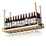 MoDi Weinregale Weinregal Hängende Weinregale auf Den Kopf Goblet Racks Weinregale Küche Bar Restaurant Cup Holders