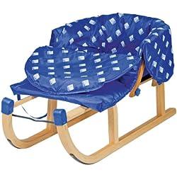 AlpenGaudi - Saco térmico para trineo de madera (47 cm9, color azul