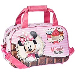 Karactermania Minnie Mouse Sweet Cake Bolsa de Deporte Infantil, 38 cm, Rosa