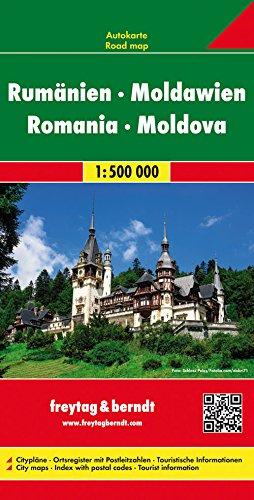Straßenkarte: Rumänien und Moldawien, Maßstab 1:500.000