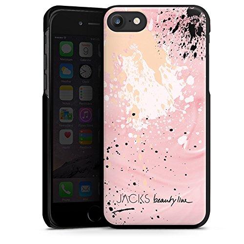 Apple iPhone X Silikon Hülle Case Schutzhülle Farbklecks Muster Bunt Hard Case schwarz