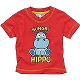 Animal Crazy Hungry Hippo Boys Short Sleeved T-Shirt