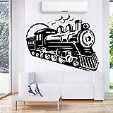 Rétro Train Vinyle Sticker Mural Stickers Pour Le Salon Chambre Enfants Décoration...