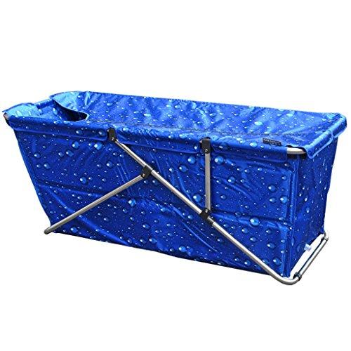 JCOCO Erwachsenen-Falt-Badewanne verlängert verdickte Badezimmer liefert Wasserdichte Tuch tragbare abnehmbare/stehende Badewanne Hause Wäschewanne (Farbe : C) -