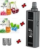 "Premium E Zigarette XXL Geschenk Cuboid Mini ""GREY STAR"" 80 Watt Starterset Elektro Zigarette Komplettset 2400 mAh ! Inkl. SC Liquids SOFORT LOSDAMPFEN"