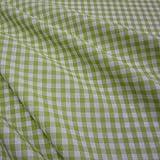 Stoff Meterware Bauernkaro hellgrün maigrün kiwi weiß