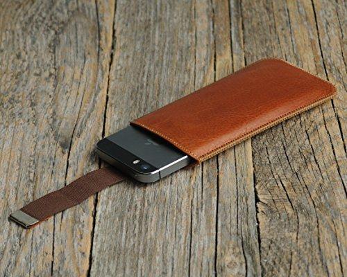 Microsoft Lumia Case Leder Hülle Tasche Etui Cover personalisiert durch Prägung mit ihrem Namen, Monogramm
