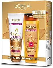L'Oreal Paris Rapid Reviver Conditioner, 180 ml with 6 Oil Nourish Shampoo, 192.