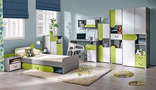 Jugendzimmer komplett Set Kinderzimmer Schlafzimmer M/öbel Ferdy I