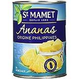 SAINT MAMET Ananas Origine Morceaux 570 g - Lot de 4