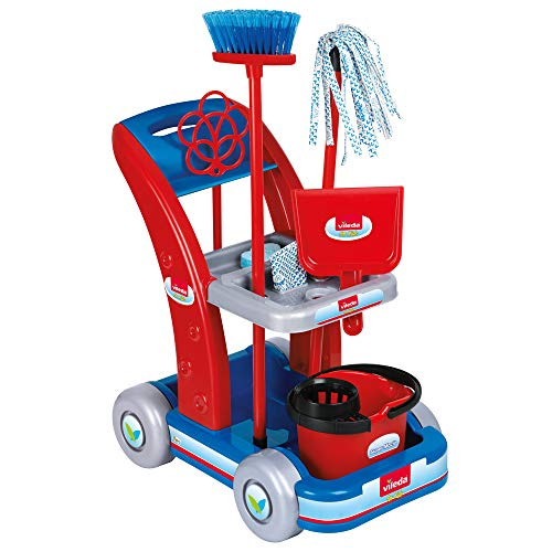 La nuova faro- faro trolley vileda 6770 set pulizia lavori domestici gioco femmina bimba 628, multicolore, 8001583067703