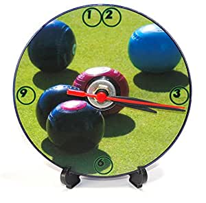 Couronne Plat Vert gazon Bols * * * * * * * * Un CD/DVD de taille (Diamètre 12cm) fantaisie sans CD Horloge murale à quartz avec batterie et support de bureau