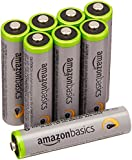 AmazonBasics High Capacity AAA Pre-Charged Rechargeable Batteries 800 mAh [Pack of 8]