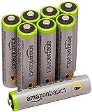 AmazonBasics Vorgeladene Ni-MH AAA-Akkus - Akkubatterien, 500 Zyklen (typisch 850mAh, minimal 800mAh), 8Stck (Äußere Hülle kann von Darstellung abweichen)