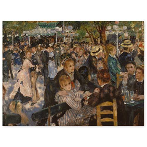 JUNIWORDS Poster, Pierre Auguste Renoir, Bal du moulin de la Galette, Ball im Restaurant Moulin de la Galette auf dem Montmartre, 137 x 100 cm