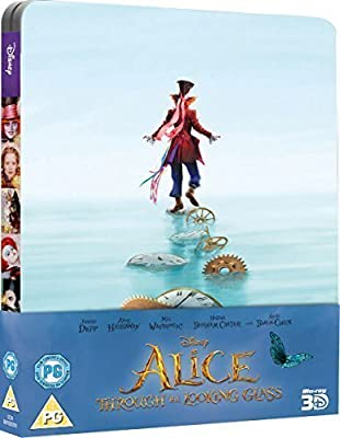 Alice Through The Looking Glass 3D Limited Edition Steelbook / Import / Includes 2D Blu Ray