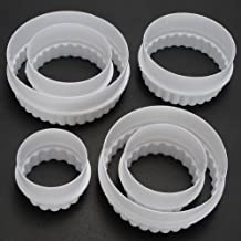 Aliciashouse 6pcs in stampi di forma rotonda torta decorazione Cookie (Laser Chiave Cutter)