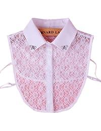 Élégant blanc dentelle collier fake détachable colliers en cristal accessoires de vêtements pour les femmes, B