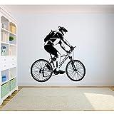 ljjljj Adesivi murali in vinile per bici da cross cross country atleti atleti giovanili camera da letto decorazione domestica 42x43cm