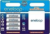 Panasonic eneloop Akku AA 4 Stück mit Kapazität 2000mAh !!! + Schutzbox BK-3MCCEC4BE