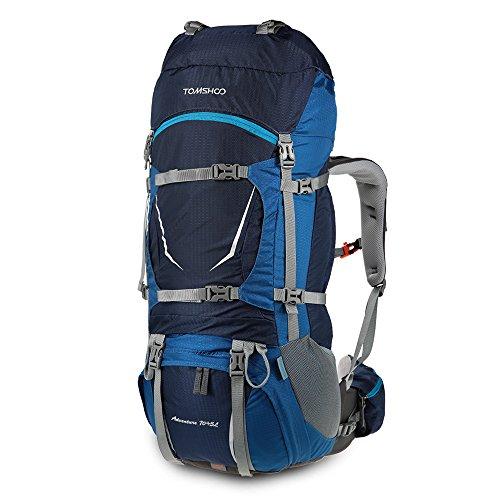 Imagen de tomshoo 70+5l  senderismo con cubierta de lluvia impermeable bolsa de trekking para escalada camping viajes montañismo